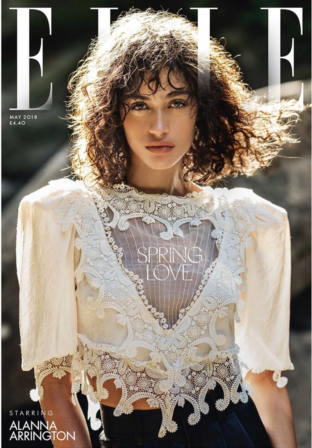 ALANNA ARRINGTON Spring Love ELLE Cover Shoot